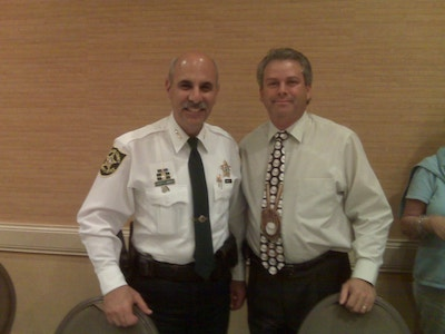 Honorary Chairman Broward County Sheriff Al Lamberti with Scott Kleiman
